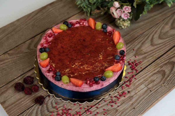 Gyümölcsös joghurtos torta