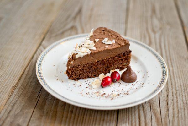 Paleo csokoládétorta szelet