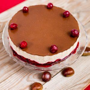 Gesztenyés-meggyes gluténmentes torta