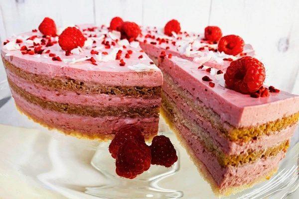 Mindenmentes málnahabos tortaszelet