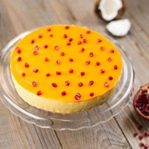 Paleo kókuszos-mangós torta