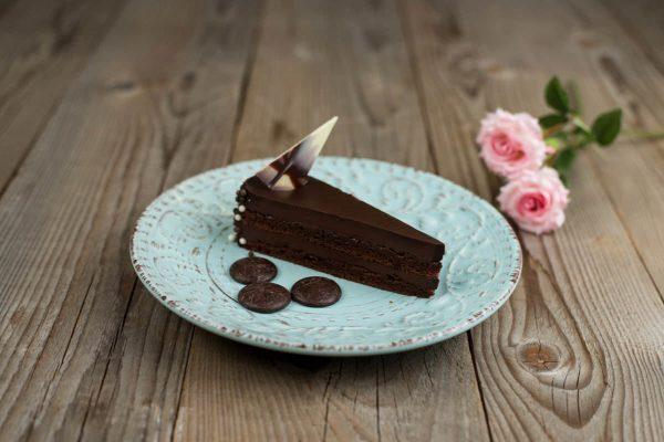 Belga csokitorta szelet